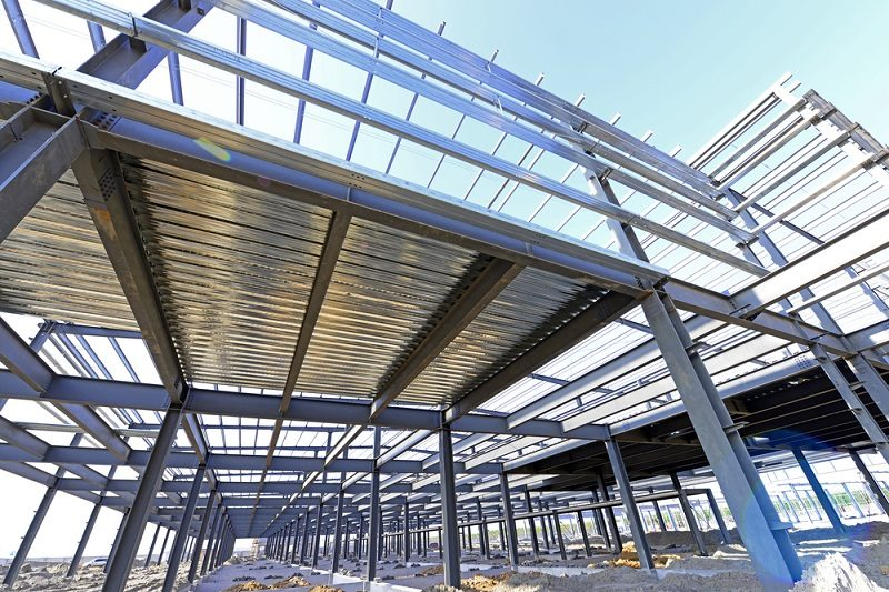 using the structural steel fabrication